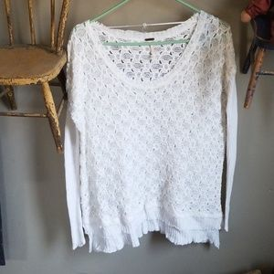 White Free People Summer Sweater